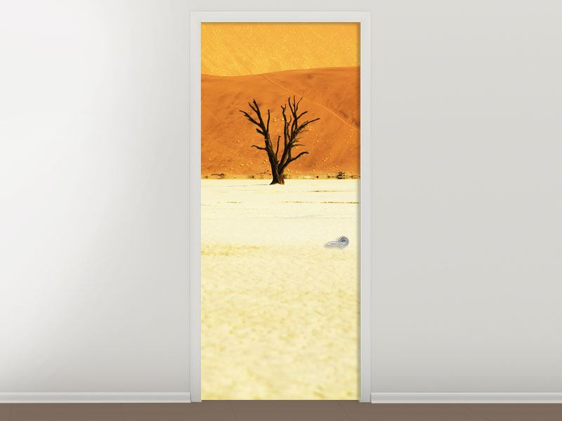 Türtapete Der Wüstenbaum