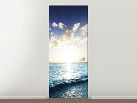 Türtapete Das Meer im Sonnenaufgang