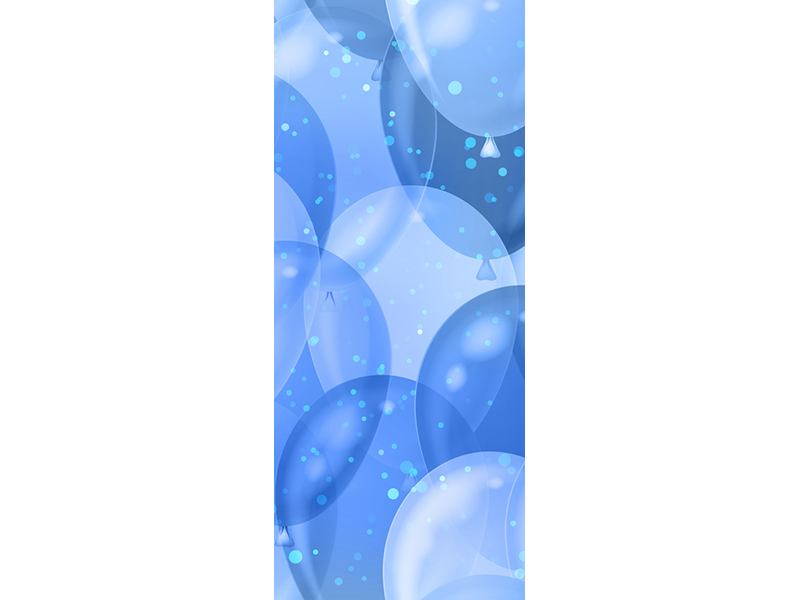 Türtapete Blaue Ballons