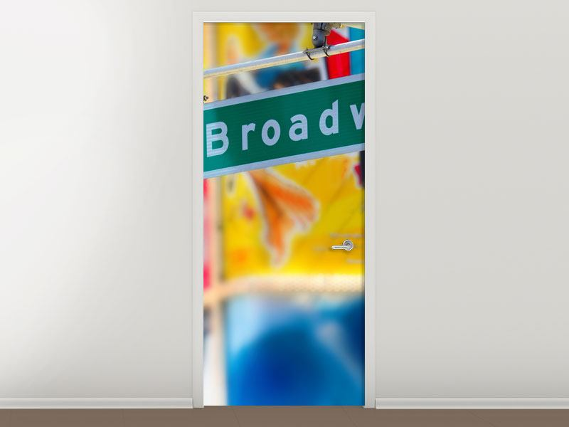 Türtapete Broadway