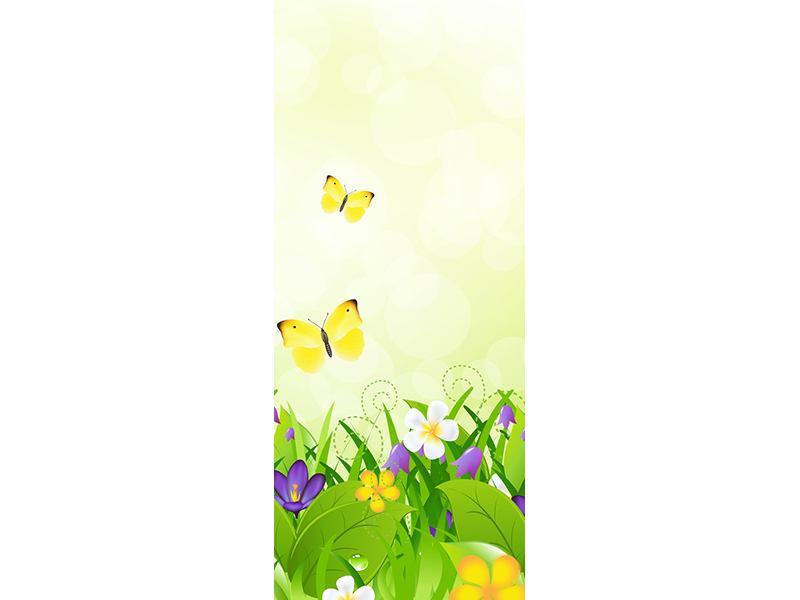 Türtapete Lustige Schmetterlinge
