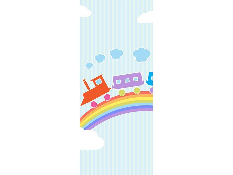 Türtapete Der Regenbogenzug