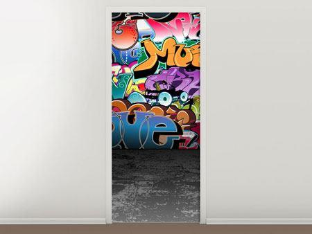 Türtapete Graffiti-Writing