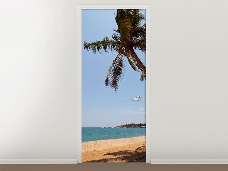 Türtapete Palmblätter