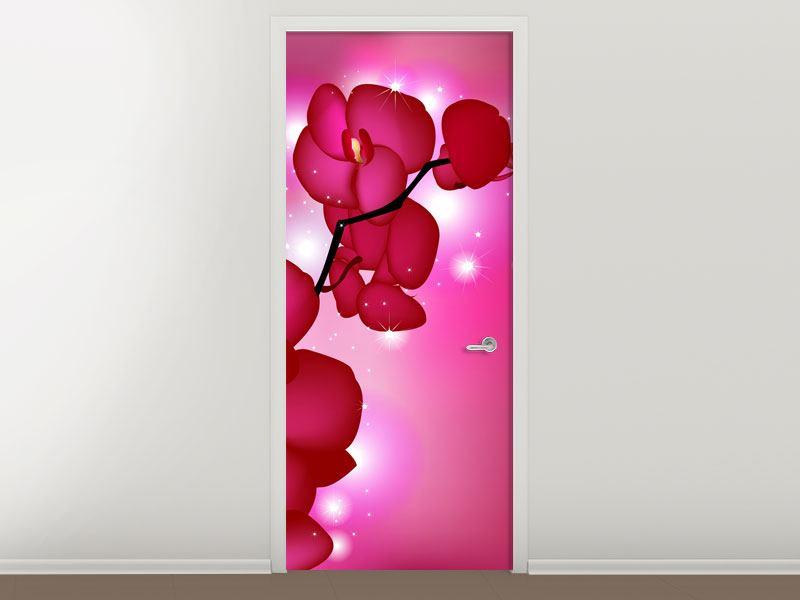 Türtapete Orchideenmärchen