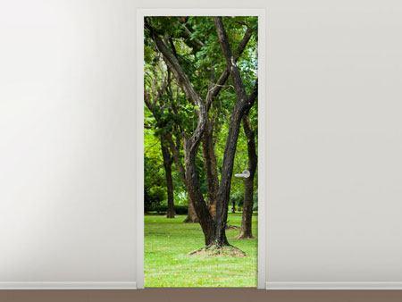 Türtapete Kirschbaum-Garten