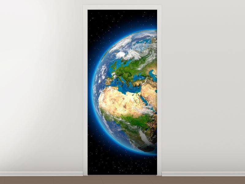Türtapete Die Erde als Planet