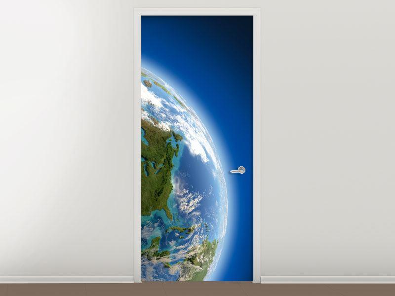 Türtapete Die Erde