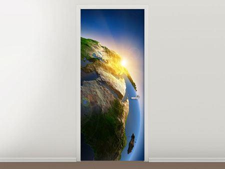 Türtapete Sonne und Erde