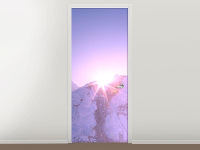 Türtapete Sonnenaufgang beim Mount Everest