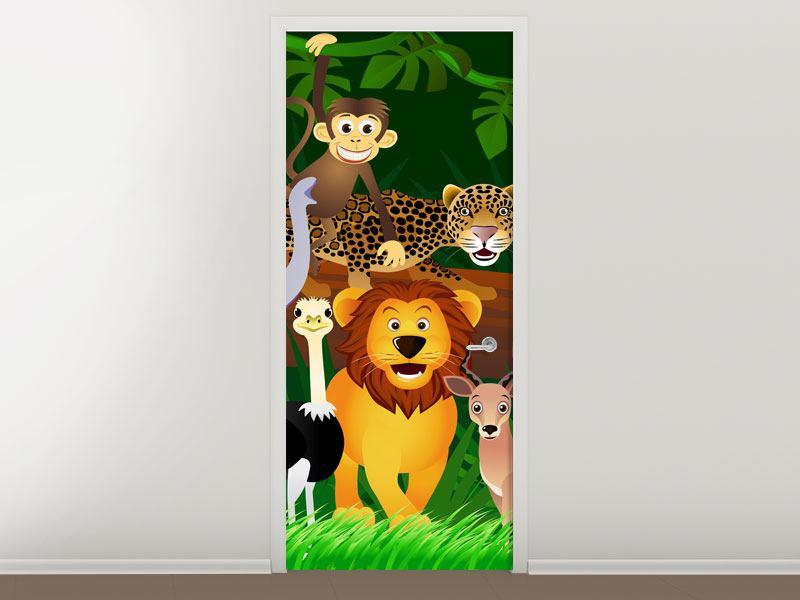 Türtapete Dschungelkönig