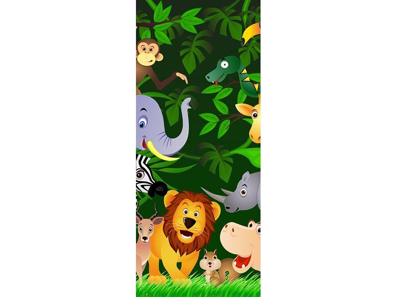Türtapete Dschungelsafari