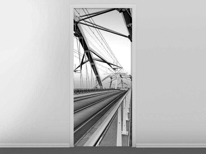 Türtapete Auf der Brücke