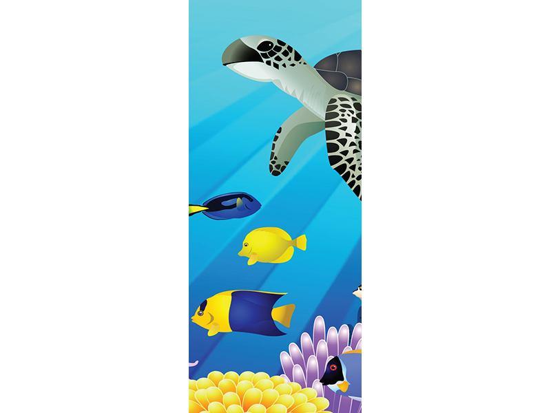 Türtapete Kinder Unterwasserwelt