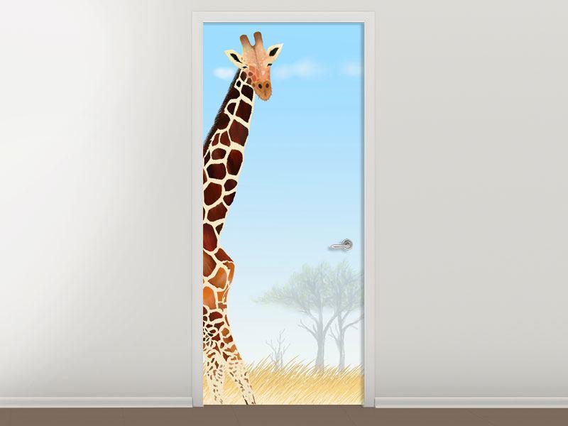 Türtapete Giraffenfreund