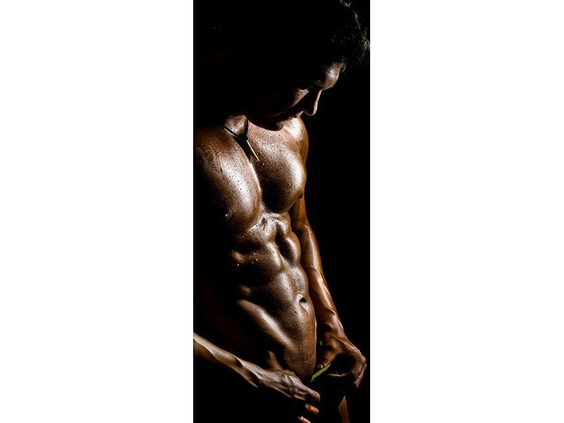 Türtapete Heisses Männermodel