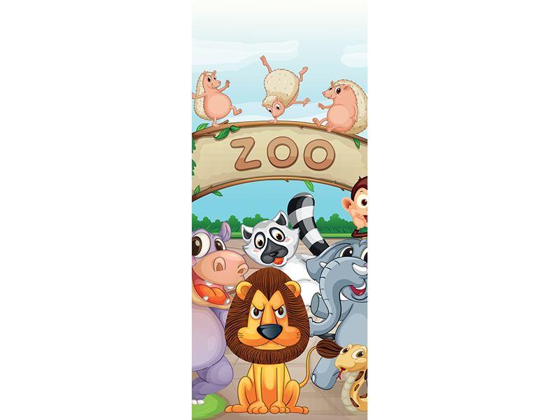 Türtapete Der lustige Zoo