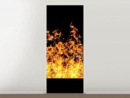 Türtapete Moderne Feuerwand
