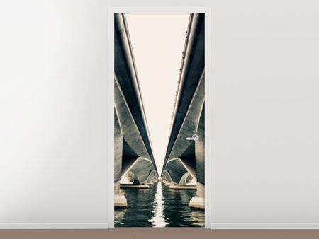 Türtapete Brückenkunst