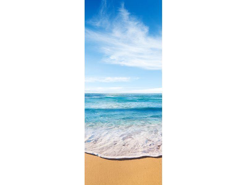 Türtapete Spuren im Sand