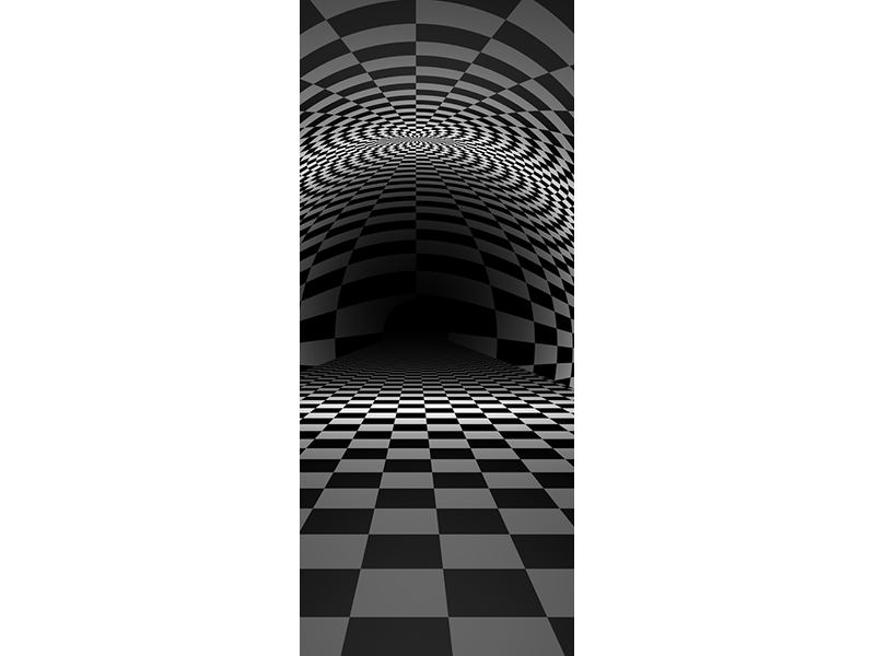 Türtapete Abstraktes Schachbrett