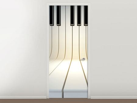 Türtapete Klaviertasten
