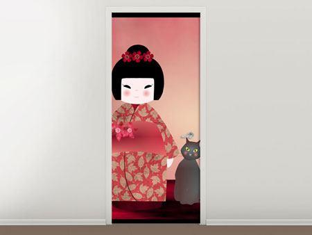 Türtapete Chinese Girl