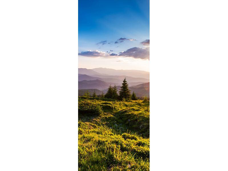 Türtapete Friedliche Landschaft