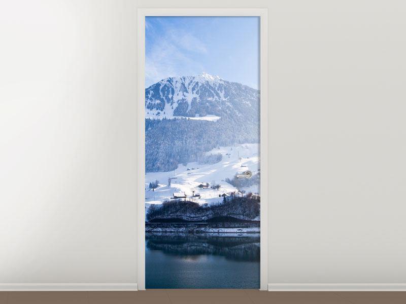 Türtapete Winterwunderland
