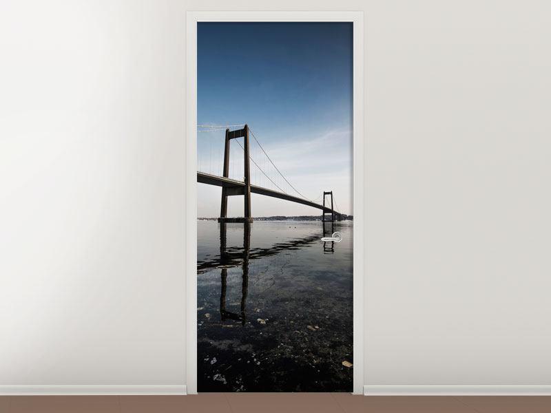 Türtapete Moderne Brücke