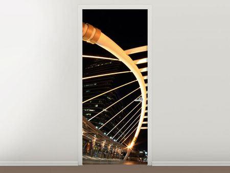 Türtapete Avantgardistische Brücke