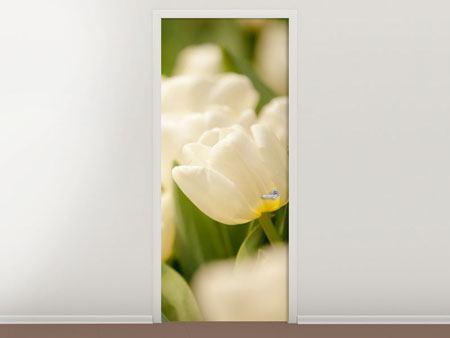 Türtapete Tulpenperspektive
