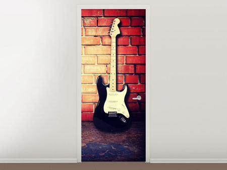Türtapete E-Gitarre