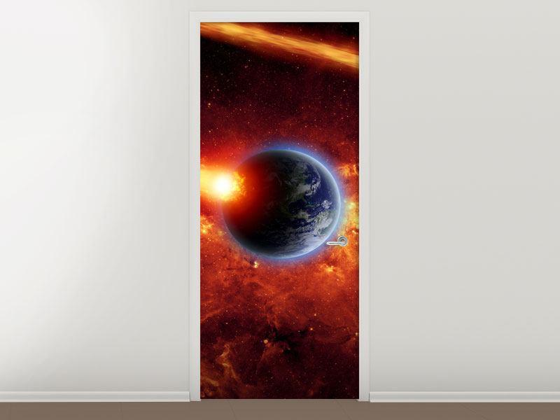 Türtapete Der Kosmos
