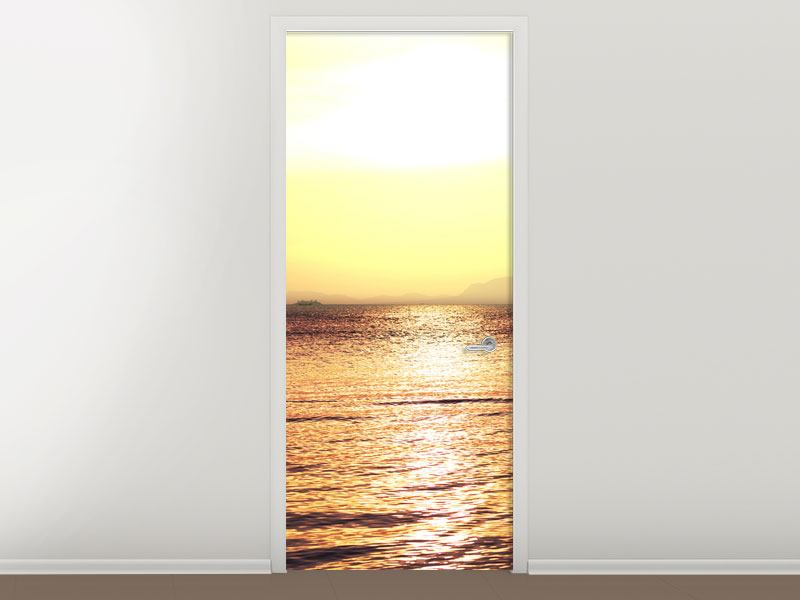 Türtapete Sonnenuntergang an der See