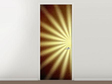Türtapete Abstrakte Sonnenstrahlen