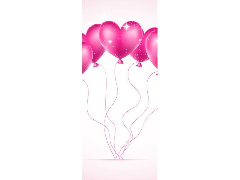Türtapete Herzballons