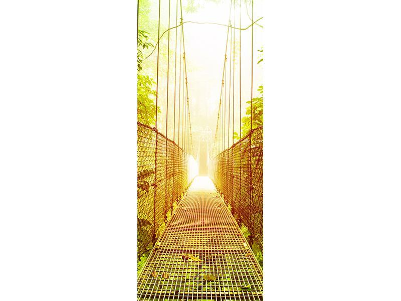 Türtapete Hängebrücke