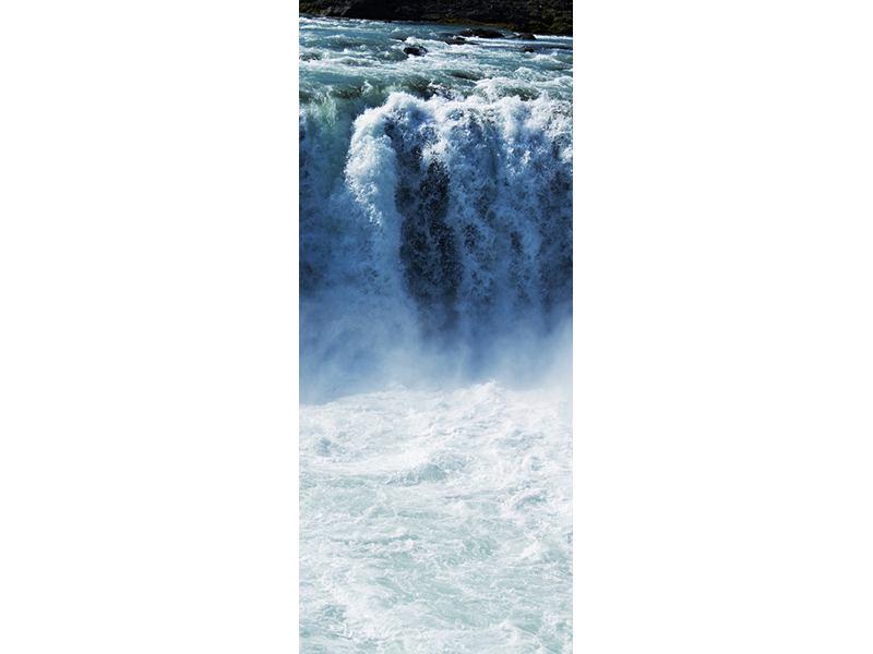 Türtapete Mächtiger Wasserfall