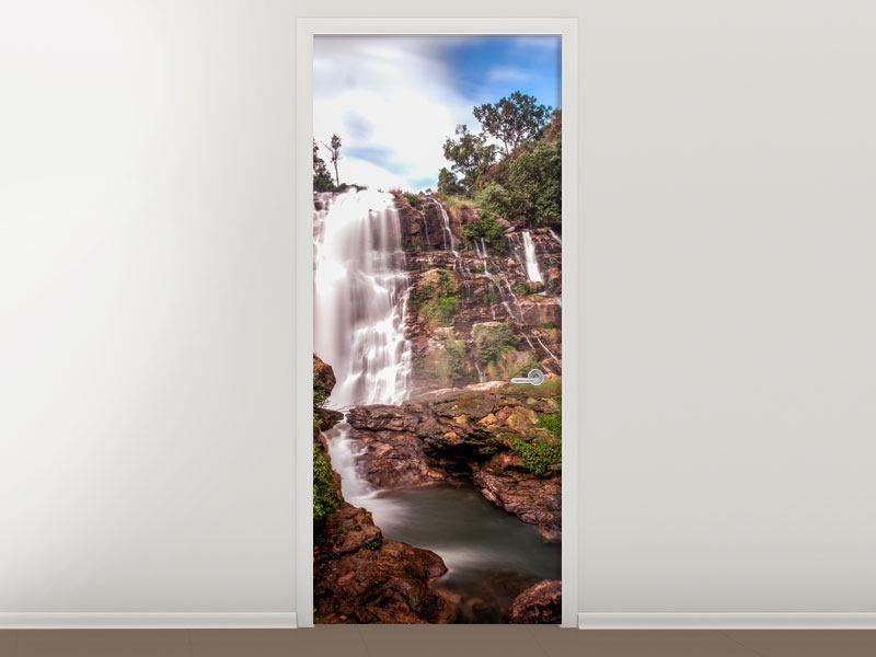 Türtapete Wasserfall in Thailand