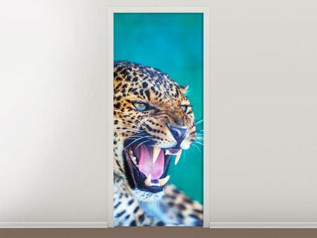 Türtapete Achtung Leopard