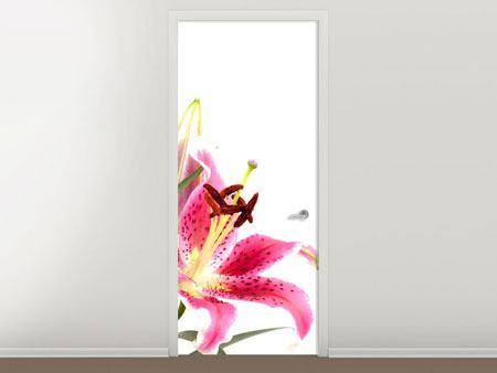 Türtapete Lilie Pretty in Pink
