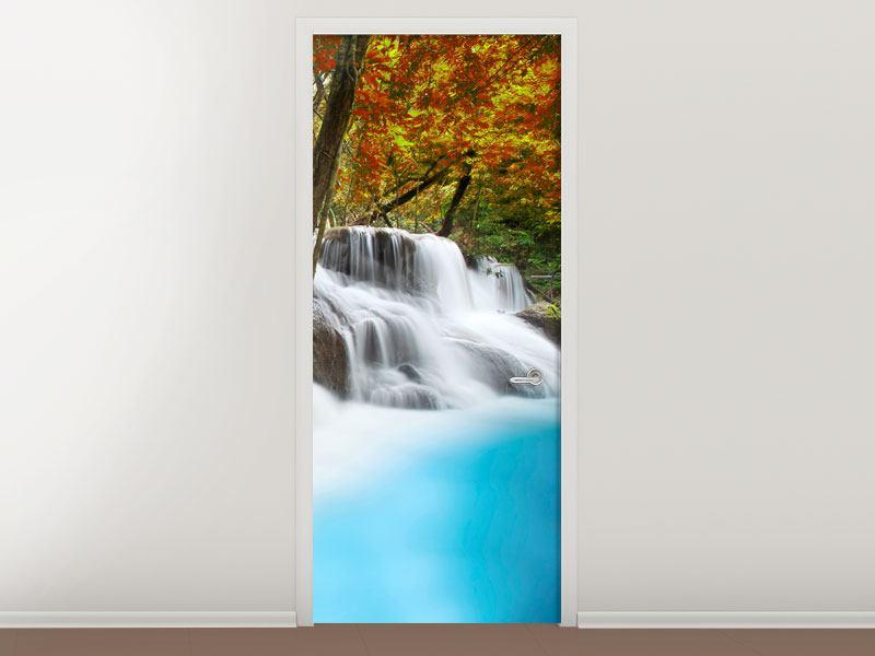Türtapete Erawan Wasserfall