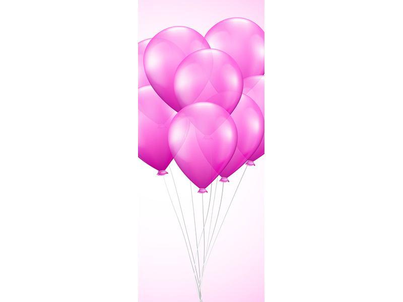 Türtapete Rosarote Luftballons