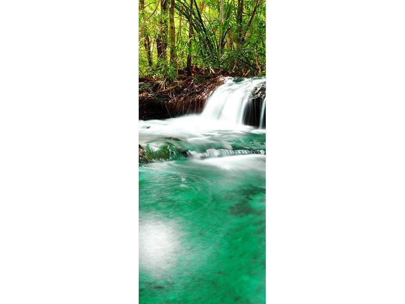 Türtapete Der Fluss am Wasserfall