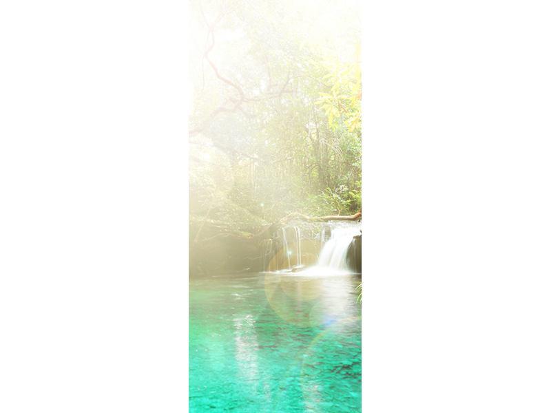 Türtapete Die grüne Lagune