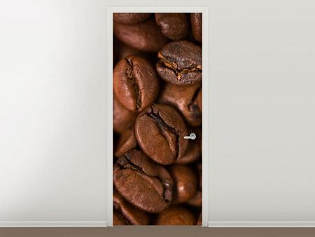 Türtapete Close Up Kaffeebohnen