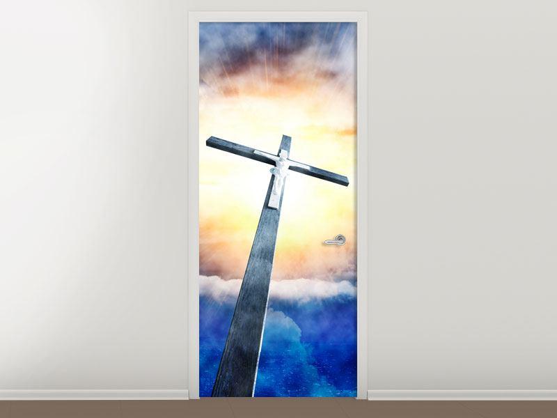 Türtapete Jesus am Kreuz