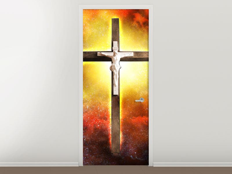Türtapete Heiliges Kreuz