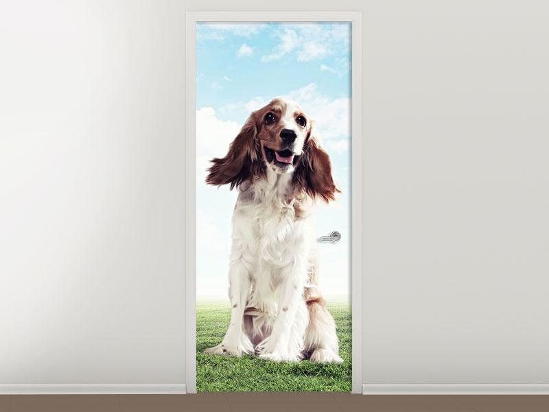Türtapete Funny Dog